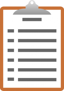 Show notes on a clipboard