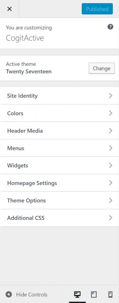 WordPress Theme Customizer Controls