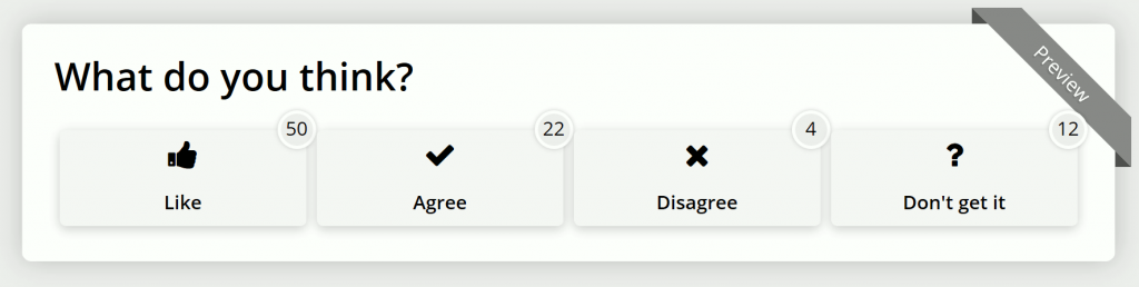 React & Share Opinion reaction bar