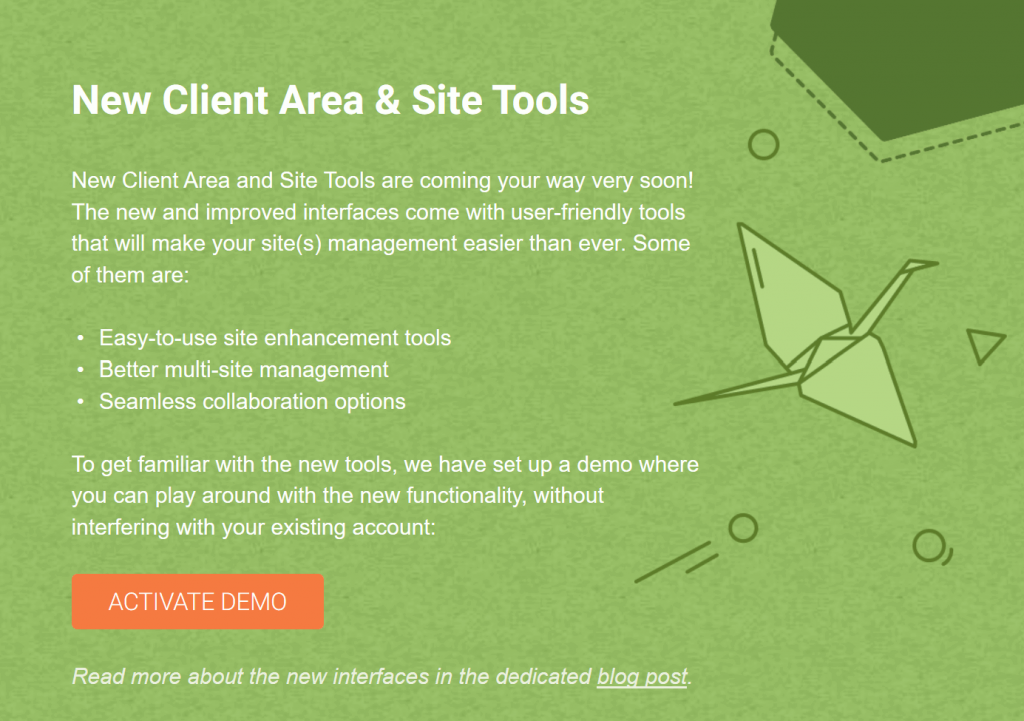 SiteGround new Client Area and Site Tools coming soon