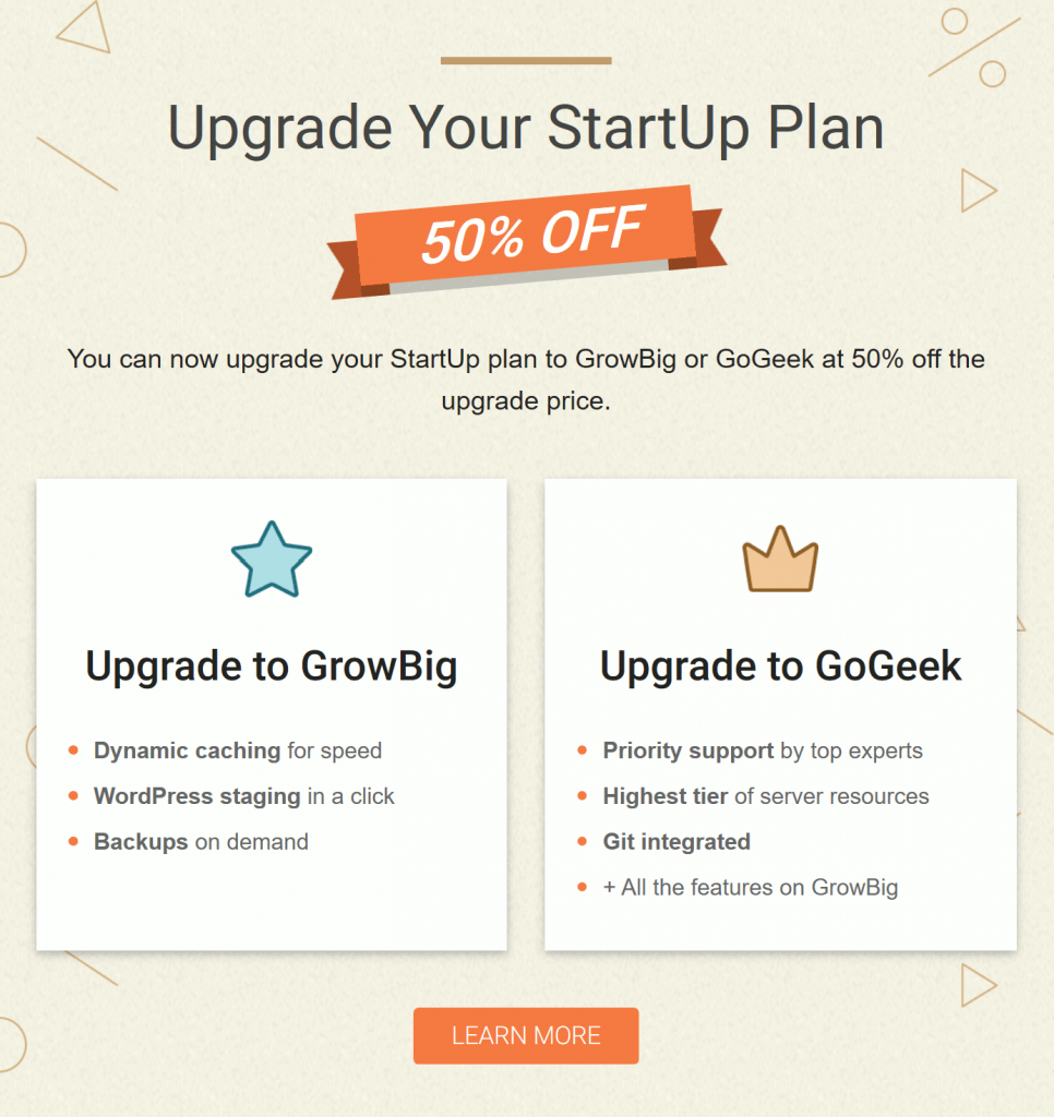 Upgrade Your StartUp plan 50% OFF